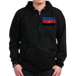 Polyamory Flag Zip Hoodie (dark)