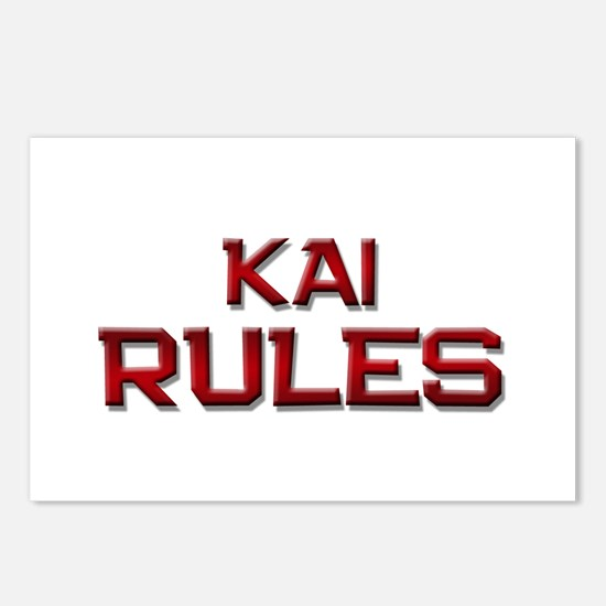 kai rules Postcards (Package of 8)
