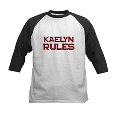 kaelyn rules Kids Baseball Jersey