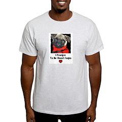 PROMISE TO BE GOOD SANTA Ash Grey T-Shirt