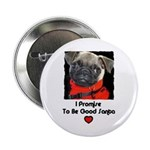 PROMISE TO BE GOOD SANTA Button