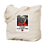 PROMISE TO BE GOOD SANTA Tote Bag
