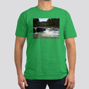 Haw Falls 1 Men's Fitted T-Shirt (dark)
