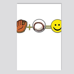 Mitt Plus Ball Equals Happy Face Postcards (Packag
