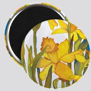 Daffodil Round Magnet