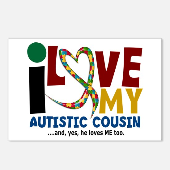 I Love My Autistic Cousin 2 Postcards (Package of