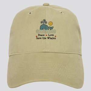 Peace Love Save The Whales Cap