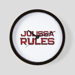 julissa rules Wall Clock