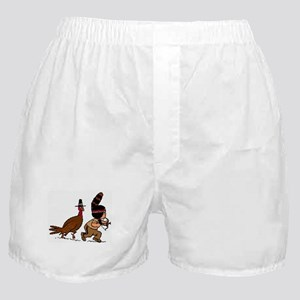 Turkey and Pilgram Thanksgiving Boxer Shorts