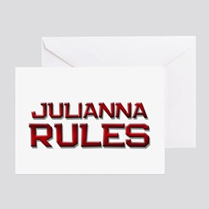 julianna rules Greeting Card
