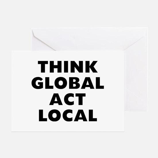 Think Global Greeting Card