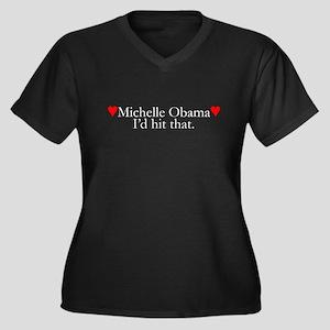 We Love Michelle Obama Women's Plus Size V-Neck Da