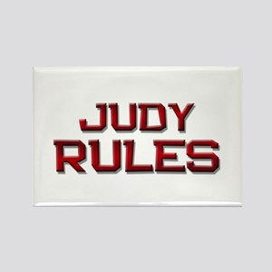 judy rules Rectangle Magnet