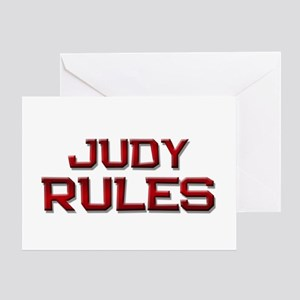judy rules Greeting Card