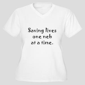 Saving Lives Women's Plus Size V-Neck T-Shirt
