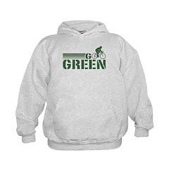 Go Green Cycling (male) Hoodie
