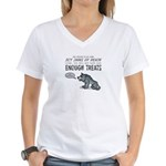 Not Enough Treats Women's V-Neck T-Shirt