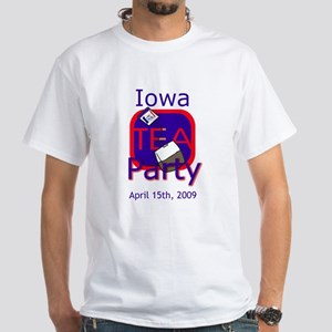Iowa Tea Party: White T-Shirt