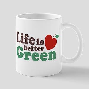 Life is Better Green Mug