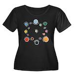 Outer Pl Women's Plus Size Scoop Neck Dark T-Shirt