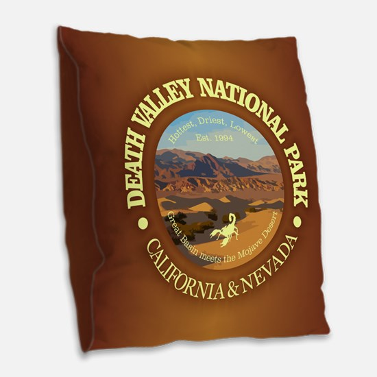Death Valley NP Burlap Throw Pillow