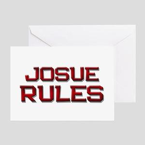 josue rules Greeting Card