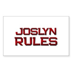 joslyn rules Rectangle Decal