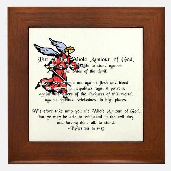 Whole Armour of God Framed Tile