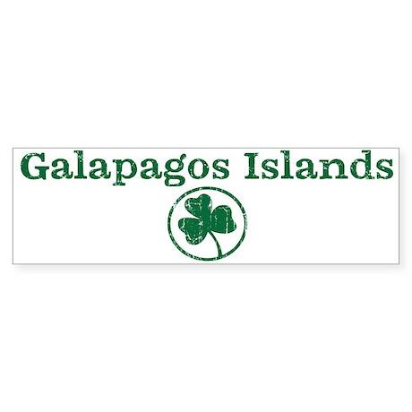 Galapagos Islands shamrock Bumper Sticker