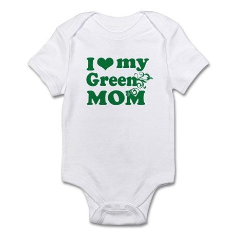 I love my green mom Infant Bodysuit