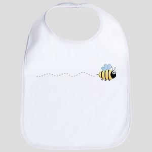 Cute bumble bee cartoon Baby Bib
