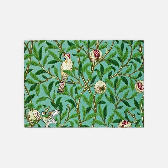 William Morris Design 5'x7'Area Rug