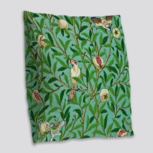 William Morris Design Burlap Throw Pillow
