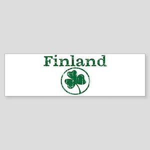 Finland shamrock Bumper Sticker
