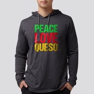 Peace Love Queso Mens Hooded Shirt