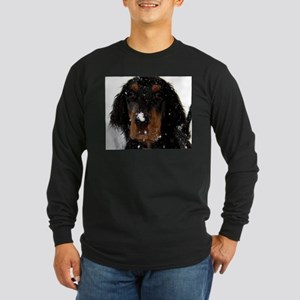 Gordon Setter Pup: Fun in the Snow Long Sleeve T-S