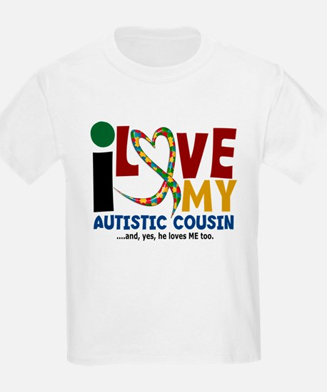 I Love My Autistic Cousin 2 T-Shirt
