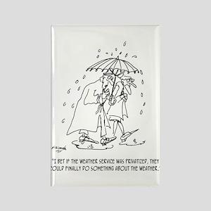 Weather Cartoon 1275 Rectangle Magnet