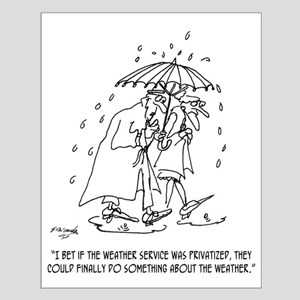 Weather Cartoon 1275 Small Poster