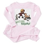 Saha: Nature Friend Toddler Pink Pajamas