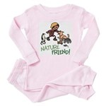 Saha: Nature Friend Baby Pink Pajamas