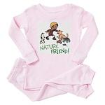 Saha: Nature Friend Baby Pink Pajamas