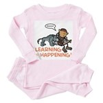 Oona: Learning is Happening! Toddler Pink Pajamas