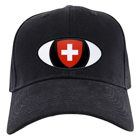Coat of Arms of Switzerland Black Cap