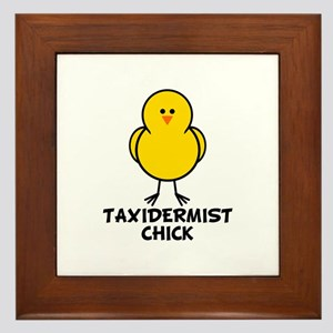 Taxidermist Chick Framed Tile