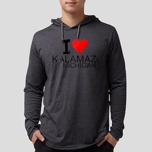 I Love Kalamazoo, Michigan Long Sleeve T-Shirt