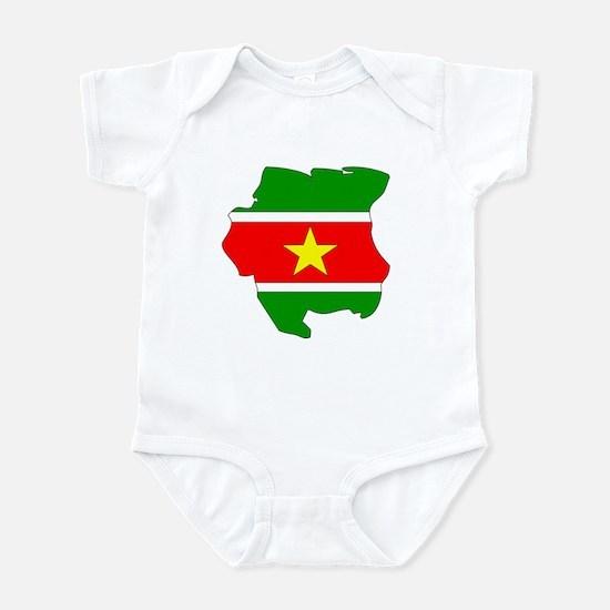 suriname Flag Map Infant Bodysuit