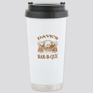 Dave's Personalized Name Vintage BBQ Stainless Ste