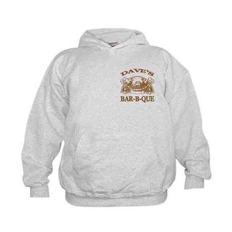 Dave's Personalized Name Vintage BBQ Kids Hoodie