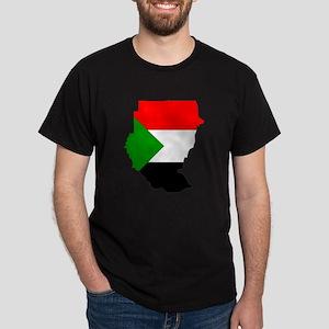 sudan Flag Map Dark T-Shirt